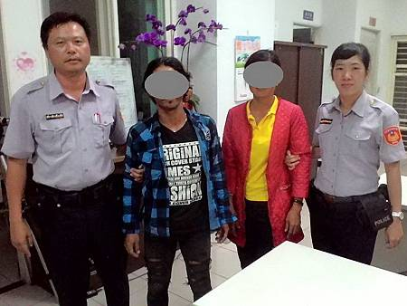 警察夫妻檔默契十足聯手逮獲逃逸外勞