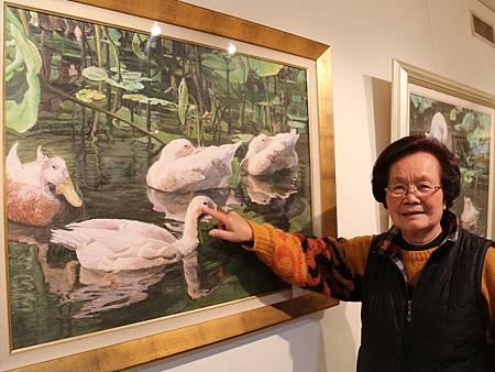 林初枝老師習畫9年作品入選多項