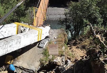 環山部落吊橋損壞