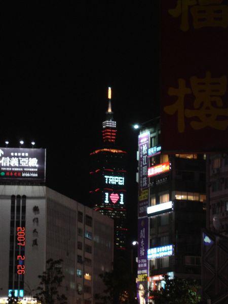2007-02-14情人節燈飾