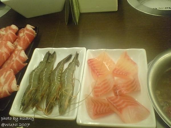 草蝦、鯛魚片