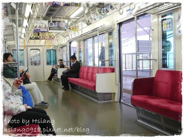 小田原線電車車廂內