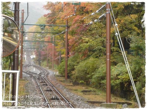 公園上站等登山纜車Cable car