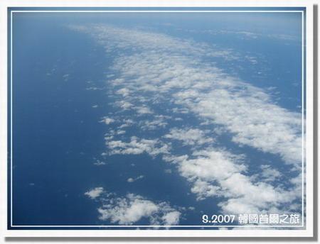 2007 韓國首爾之旅-01高雄>韓國.機上