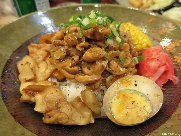 黑胡椒雞丼  130元