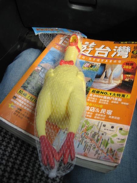 出發前,趙說要送我一個禮物...ㄜ...是雞....