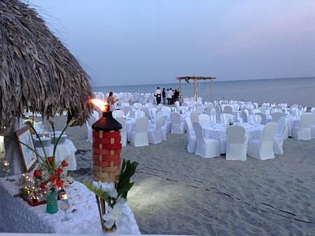 沙灘上的晚宴