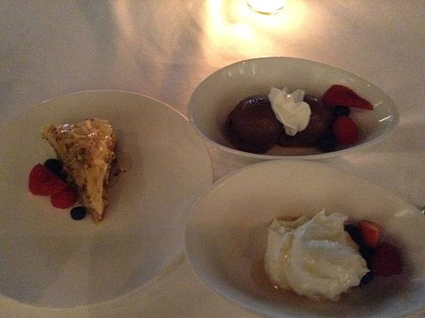 Volos的三款飯後甜點