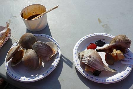 夜市路邊攤的海鮮饗宴