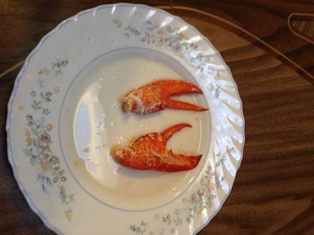 有份量的龍蝦螯肉