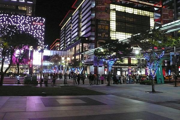 台北信義區的夜景