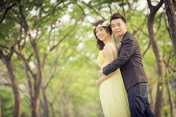 森林系婚紗照