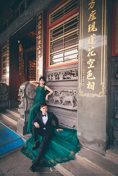 寺廟拍攝婚紗照