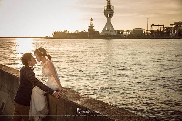 婚紗照近景