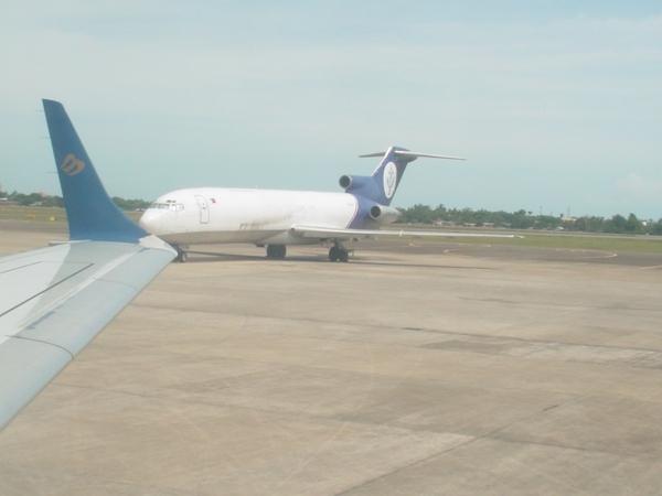機場內停放的唯一一架飛機~