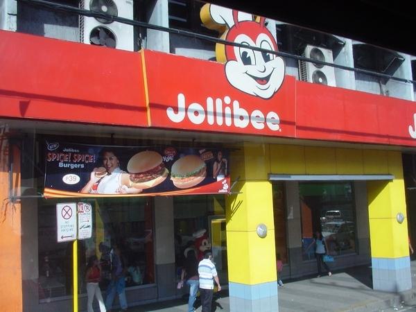 蜜蜂先生速食店(盛行程度可比在台灣隨處可見的麥當勞)