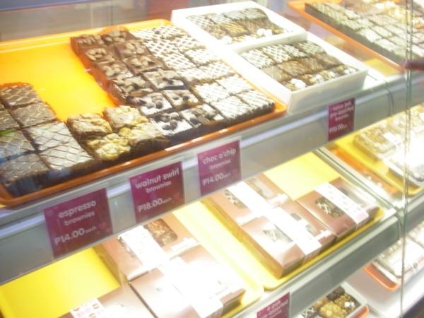 Mall裡的布朗尼(Brownie)蛋糕櫃