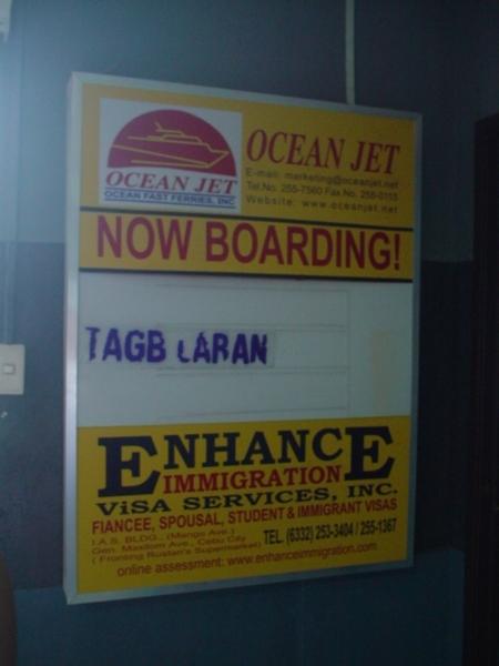 登船訊息~目的地TAGBILARAN CITY是薄荷島的大城~
