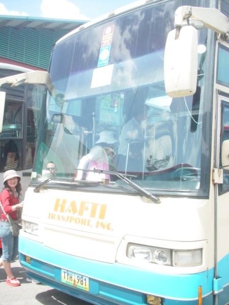 我們這團的大巴~上車後不久~發現是台北市淘汰的舊式遊覽車~