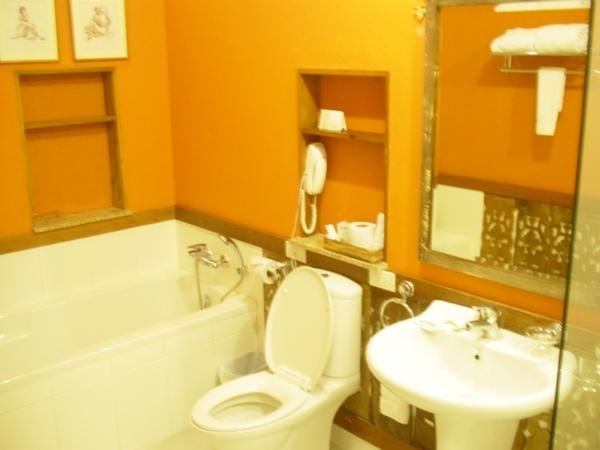衛浴都是採用American Standard這品牌的~備品都維持得很新~連吹風機都像是剛拆封的!