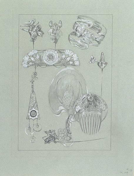 裝飾資料集第50號圖版設計稿 Documents décoratifs drawing for Plate 50.jpg