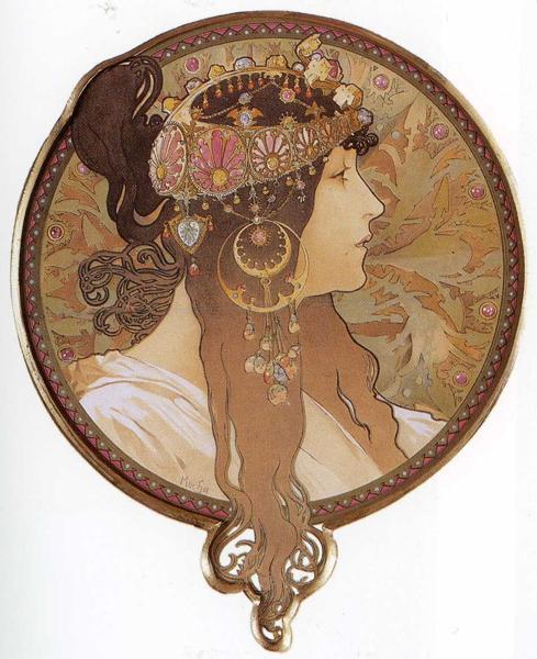 Byzantine Head The Brunette. 1897拜占庭頭飾(棕髮).jpg