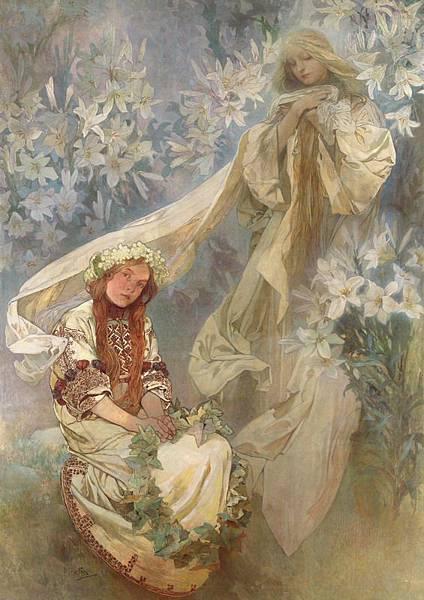 Madonna of the Lilies. 1905百合聖母.jpg