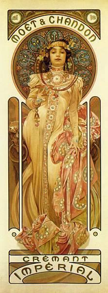 Moët & Chandon - Dry Impérial. 1899商業設計-摩埃與香頓出品皇家白葡萄酒.jpg