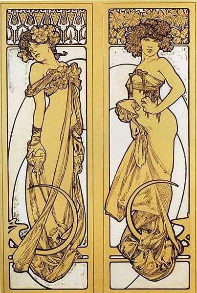 Two Standing Women. Design for Documents décoratifs. Plate 45. 1902.jpg