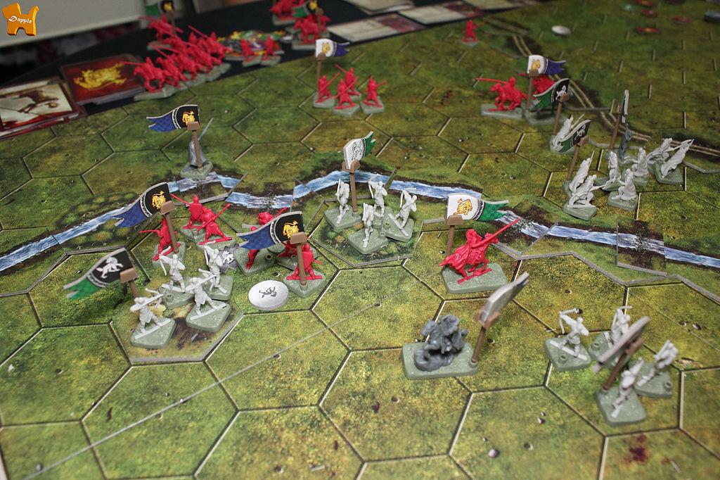 第二場王道遭遇:可汗蘭尼斯特對上白騎史塔克。可汗贏了!