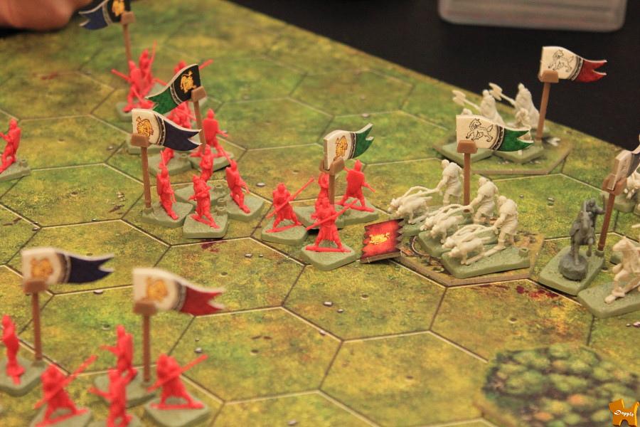 接著藍尼也趁機打史塔克家右上方村莊裡的馴狼兵