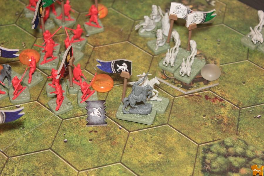 蘭尼斯特高階(紅階)步兵反擊卡史塔克