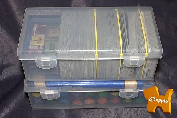卡片尺寸可調整收納盒(上方)