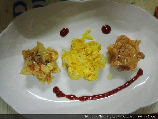 三色炒飯4
