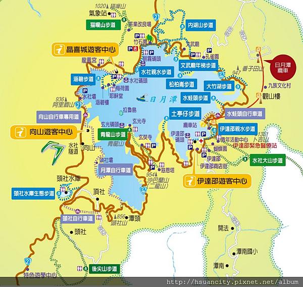 日月潭地圖