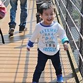 走在吊橋上 橋會搖 好樂