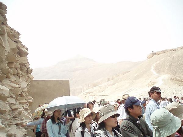 滿坑滿谷的遊客