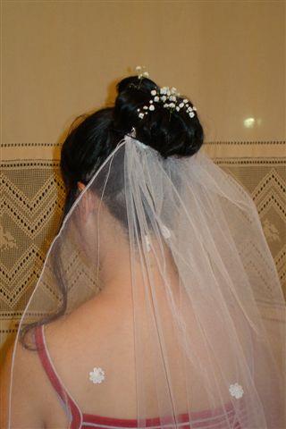 試做的新娘頭
