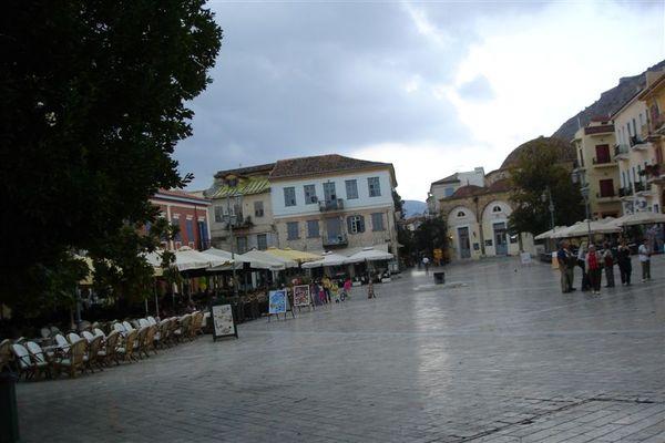 銀行前的廣場
