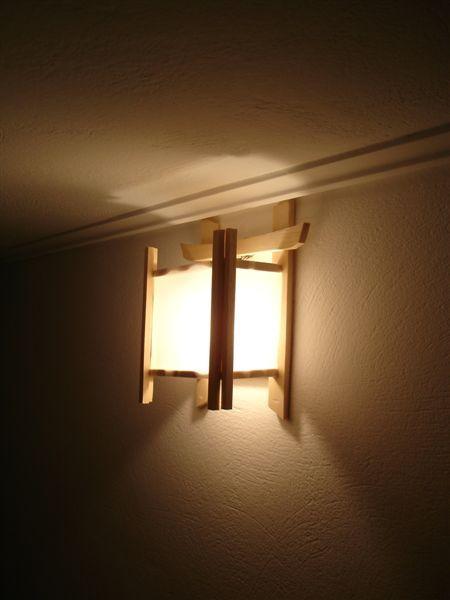 家裏hall上的手工日式燈