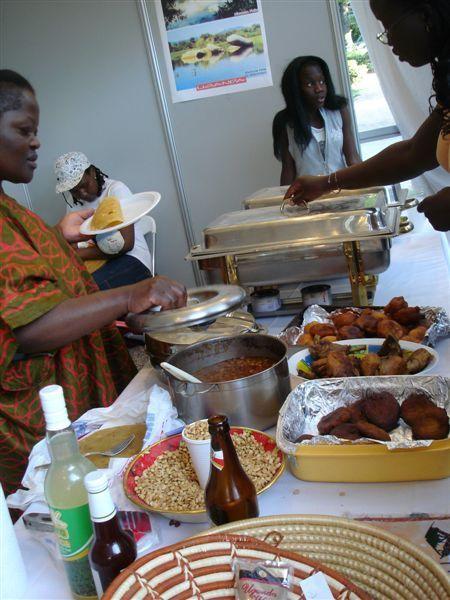 非洲美食攤位