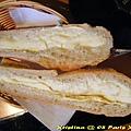 塗了奶油的法式麵包