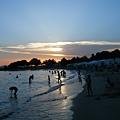 Alimos海灘的黃昏
