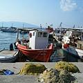 Akritsas港口旁的漁船停靠區