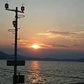 Edipsos港口前的黃昏