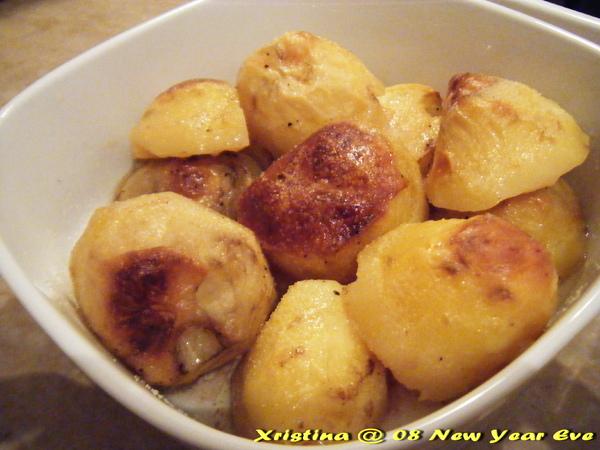 雞油烤馬鈴薯