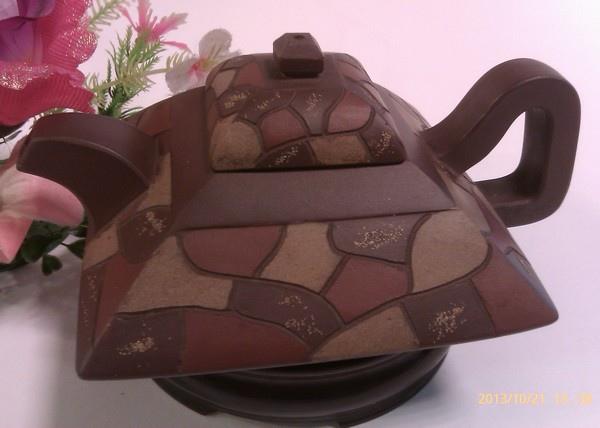 角泥土茶壺