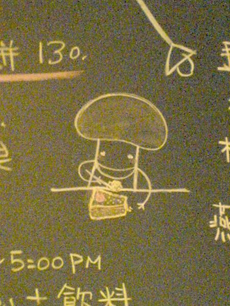 黑板上的可愛小蘑菇