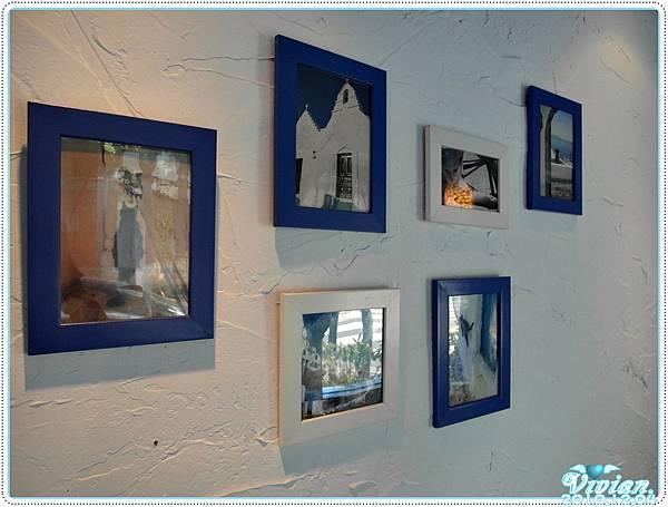 牆壁上掛滿貓貓的照片