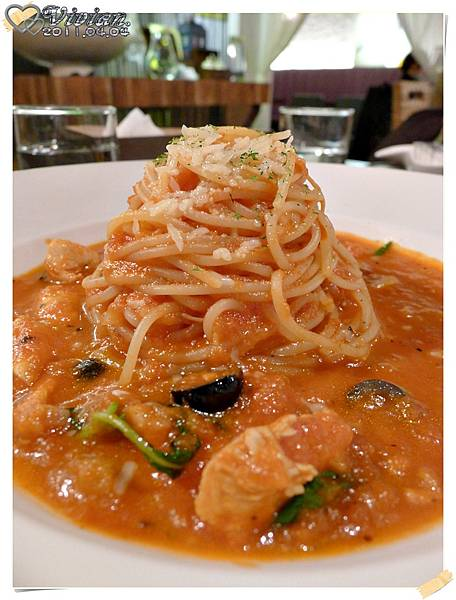 茄汁海鮮麵